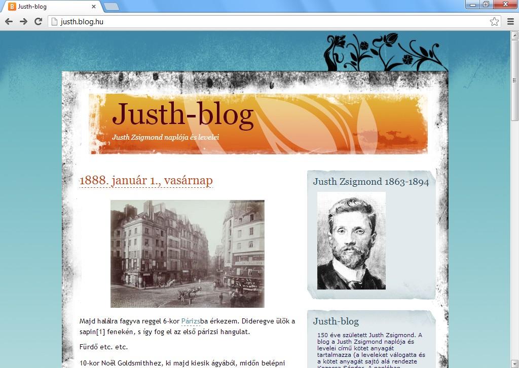 Justh Zsigmond blogol