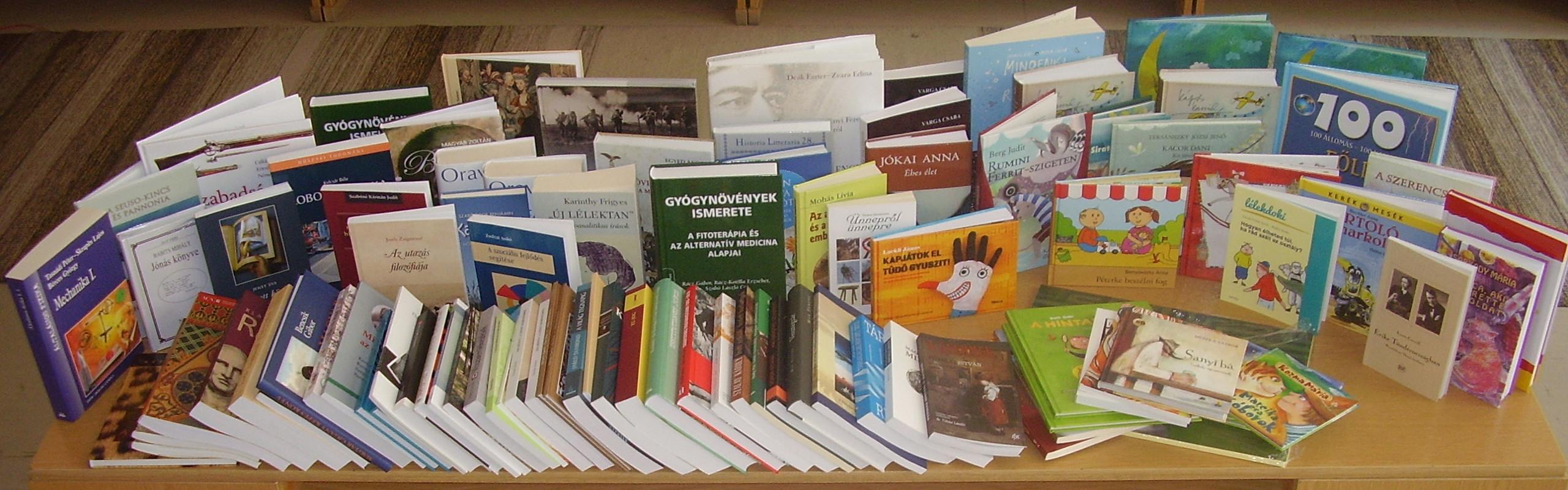 Könyvtámogatási program új könyvekkel